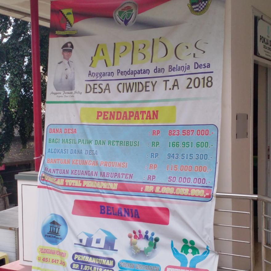 APBDes Desa Ciwidey T.A 2018